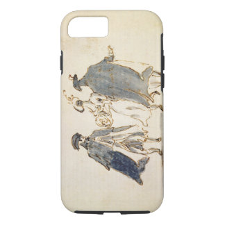 Three Masked Figures in Carnival Costume (pen & in iPhone 8/7 Case