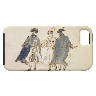 Three Masked Figures in Carnival Costume (pen & in iPhone SE/5/5s Case
