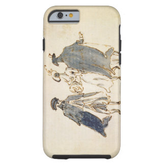 Three Masked Figures in Carnival Costume (pen & in Tough iPhone 6 Case
