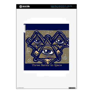 Three Masons in Space by ParanormalPrints Skins For iPad 3