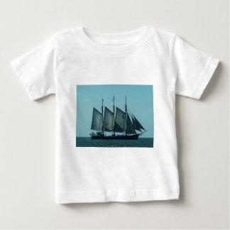 Three masted sailing ship baby T-Shirt