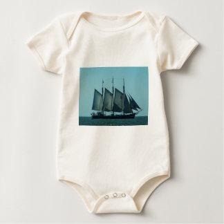 Three masted sailing ship bodysuits