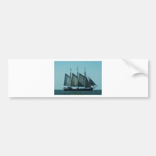 Three masted sailing ship bumper stickers