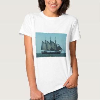 Three masted sailing ship t shirt