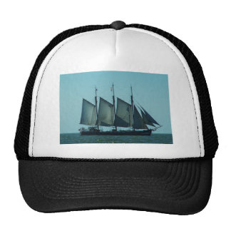 Three masted sailing ship trucker hat