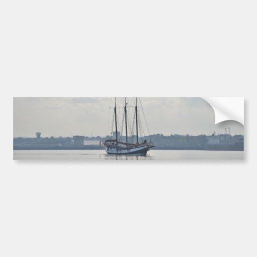 Three Masted Schooner Trinovante. Bumper Sticker