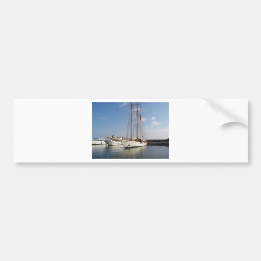 Three Masted Yacht Bumper Stickers
