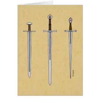 Three Medieval Swords 2016 Card