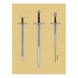 Three Medieval Swords 2016 Postcard