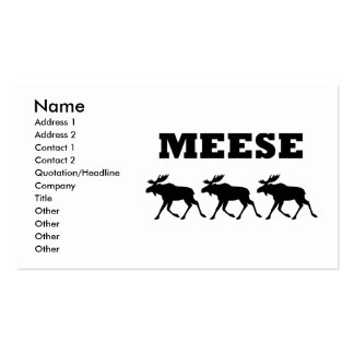 Three Meese Funny Business Card Template