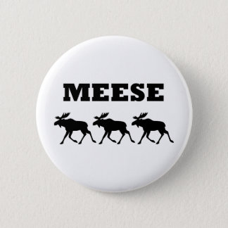 Three Meese Funny Button