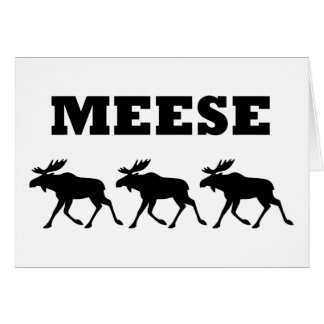 Three Meese Funny Greeting Card