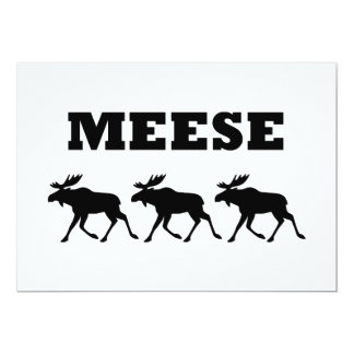 Three Meese Funny Card