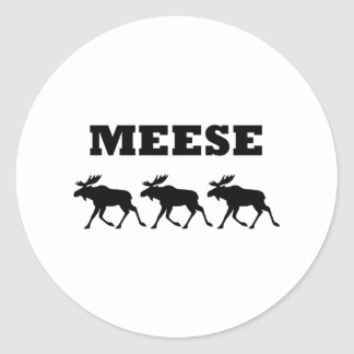 Three Meese Funny Classic Round Sticker