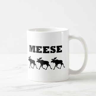 Three Meese Funny Classic White Coffee Mug