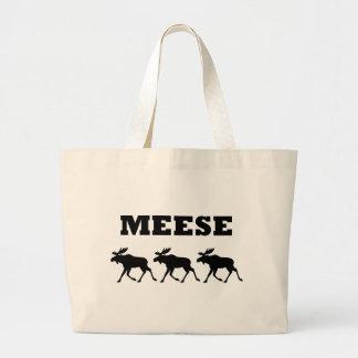Three Meese Funny Jumbo Tote Bag