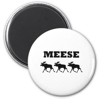 Three Meese Funny Magnet