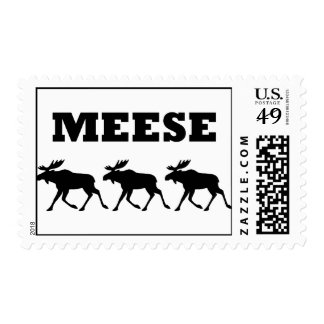 Three Meese Funny Postage Stamp