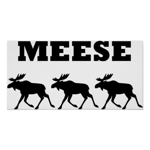 Three Meese Funny Poster