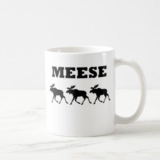 Three Meese Funny T-Shirt Classic White Coffee Mug