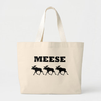 Three Meese Funny T-Shirt Large Tote Bag
