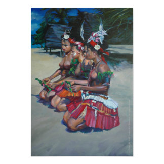 Three Melanesian Girls Print
