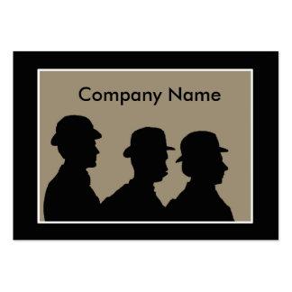Three men business card template