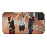 three men in athletic clothing playing iPhone 4 cases