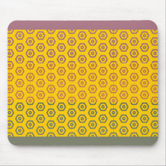 Three Metal Finish Color - Ann Wrecktange Pattern Mouse Pad