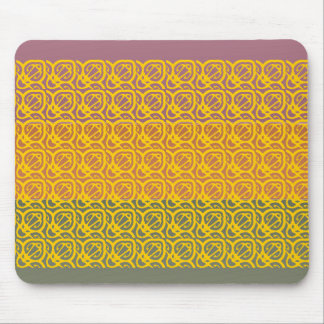 Three Metal Finish Color - Gingerbread Border Mouse Pad