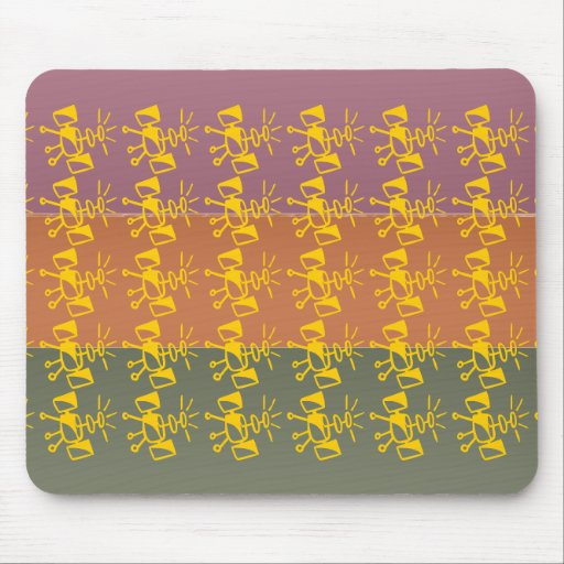 Three Metal Finish Color - Satellite  Pattern Mousepad