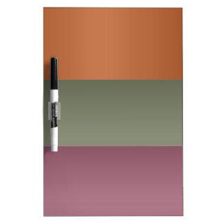 Three Metal Finish Color Stripe - Add Text Img Dry-Erase Board