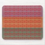 Three Metal Finish Color Stripe - bbb Pattern Mousepads
