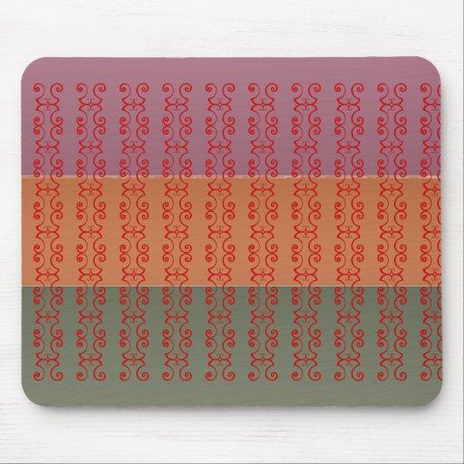 Three Metal Finish Color Stripe - ccc Pattern Mousepad
