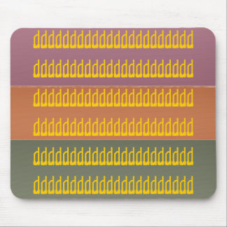 Three Metal Finish Color Stripe - ddd Pattern Mouse Pad
