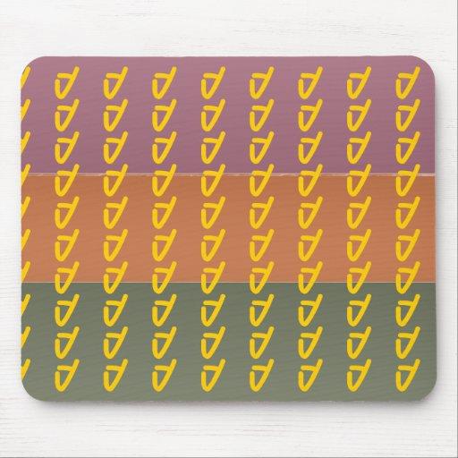 Three Metal Finish Color Stripe - ddd Pattern Mousepad