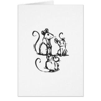 Three Mice Card