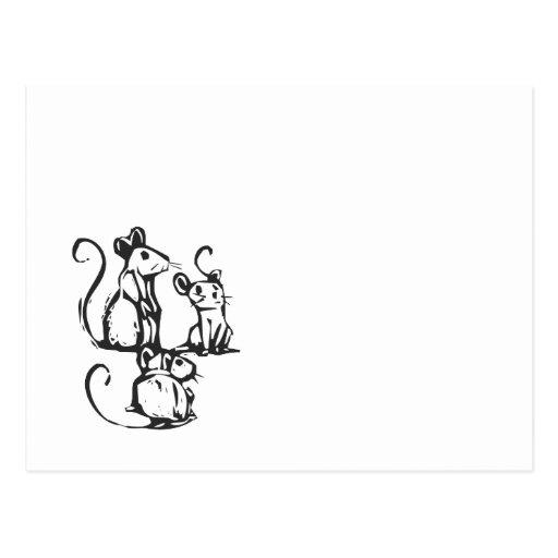 Three Mice Post Cards