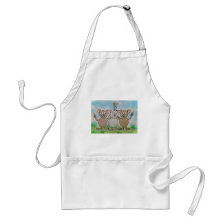 Three Mice Stand United Together Family Friend Adult Apron