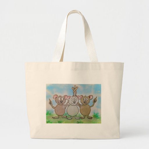 Three Mice Stand United Together Family Friend Jumbo Tote Bag