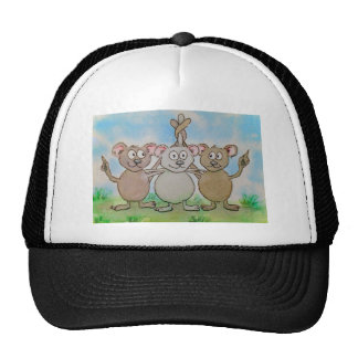Three Mice Stand United Together Family Friend Trucker Hat