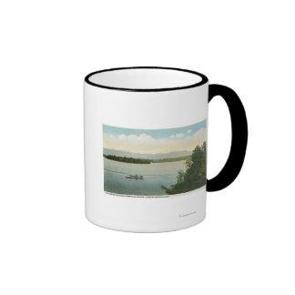 Three Mile Island View of the Ossipee Mts Ringer Coffee Mug