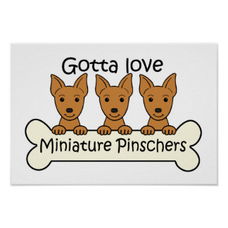 Three Miniature Pinscher Posters