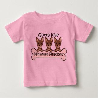 Three Miniature Pinschers Infant T-shirt