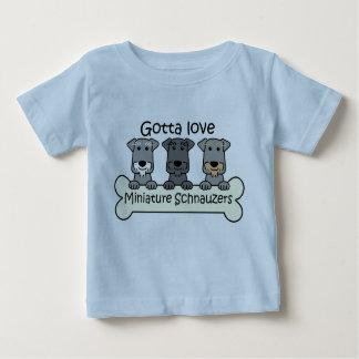 Three Miniature Schnauzers Baby T-Shirt