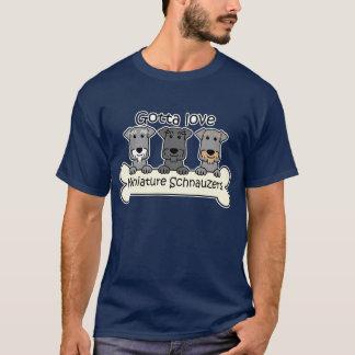 Three Miniature Schnauzers T-Shirt