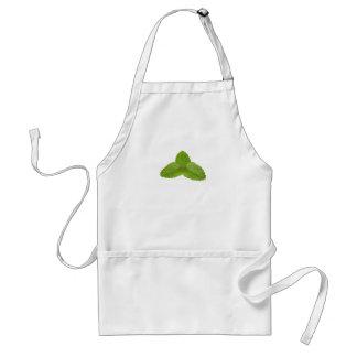 Three mint leaves adult apron
