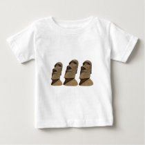 Three Moai - Easter Island- Clothes Baby T-Shirt