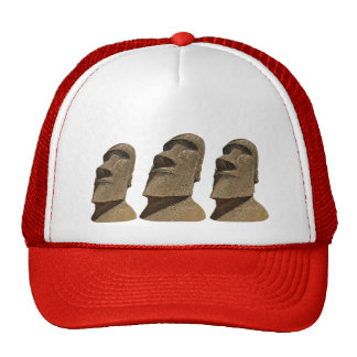Three Moai - Easter Island- Clothes Trucker Hat
