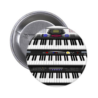 Three Modern Keyboards: Synthesizers: 2 Inch Round Button